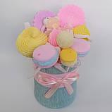 Букет из мыльных сладостей сладко - цветочная композиция из мыла ручной работы мыльный букет из мыла подарок, фото 9