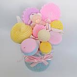 Букет из мыльных сладостей сладко - цветочная композиция из мыла ручной работы мыльный букет из мыла подарок, фото 8