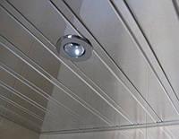 Реечный алюминиевый потолок Allux хром зеркальный комплект 190 см х 220 см