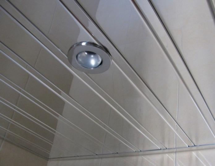 Рейкова алюмінієва стеля Allux хром дзеркальний комплект 180 см х 330 см