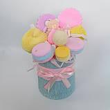 Букет из мыльных сладостей сладко - цветочная композиция из мыла ручной работы мыльный букет из мыла подарок, фото 6