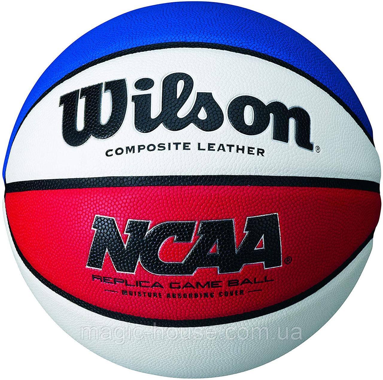 Wilson NCAA USA Replica Basketball Game М'яч баскетбольний вілсон оригінал розмір 7 композитна шкіра