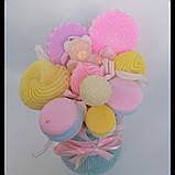 Букет из мыльных сладостей сладко - цветочная композиция из мыла ручной работы мыльный букет из мыла подарок, фото 5