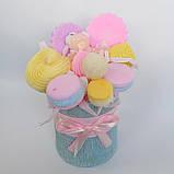 Букет из мыльных сладостей сладко - цветочная композиция из мыла ручной работы мыльный букет из мыла подарок, фото 4