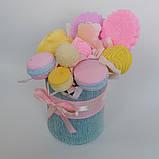 Букет из мыльных сладостей сладко - цветочная композиция из мыла ручной работы мыльный букет из мыла подарок, фото 3