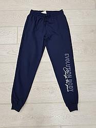 Спортивні штани чоловічі з принтом темно-сині