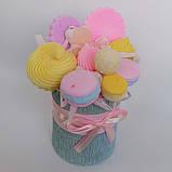 Букет из мыльных сладостей сладко - цветочная композиция из мыла ручной работы мыльный букет из мыла подарок, фото 2