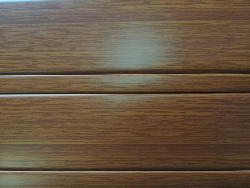 Реечный алюминиевый потолок Allux золотой дуб комплект 190 см х 220 см