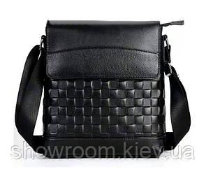 Сумка мужская мессенджер Leather Collection (8867) кожаная черная