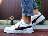 Чоловічі демісезонні кросівки в стилі Puma Cali Bold, білі з чорним \ червоним