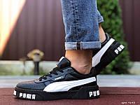 Чоловічі демісезонні кросівки Puma Cali Bold, чорні з білим