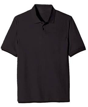 Футболка поло однотонная мужская, цвет черный