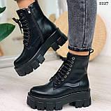 Только 38 р! Женские ботинки ДЕМИ черные на шнурках натуральная кожа, фото 3