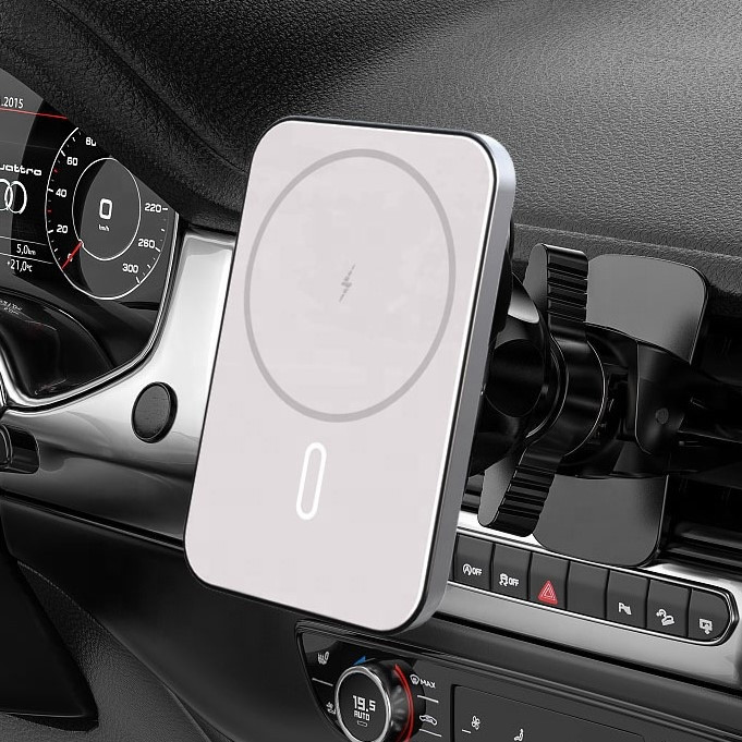 Магнітний автотримач з бездротовою зарядкою mobAlpha MagSafe Car Charger для iPhone mini 12 | 12 | 12 Pro