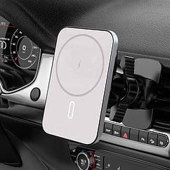 Магнитный автодержатель с беспроводной зарядкой mobAlpha MagSafe Car Charger для iPhone 12 mini   12   12 Pro