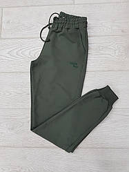 Спортивные штаны мужские с манжетами однотонные