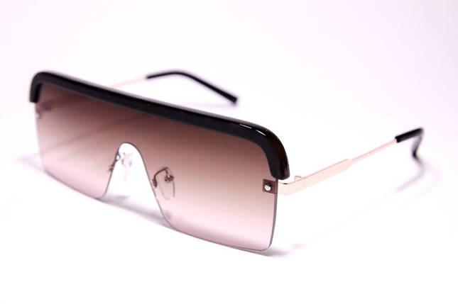 Жіночі сонцезахисні окуляри маска Діор 008 C2 репліка Коричневі з градієнтом, фото 2