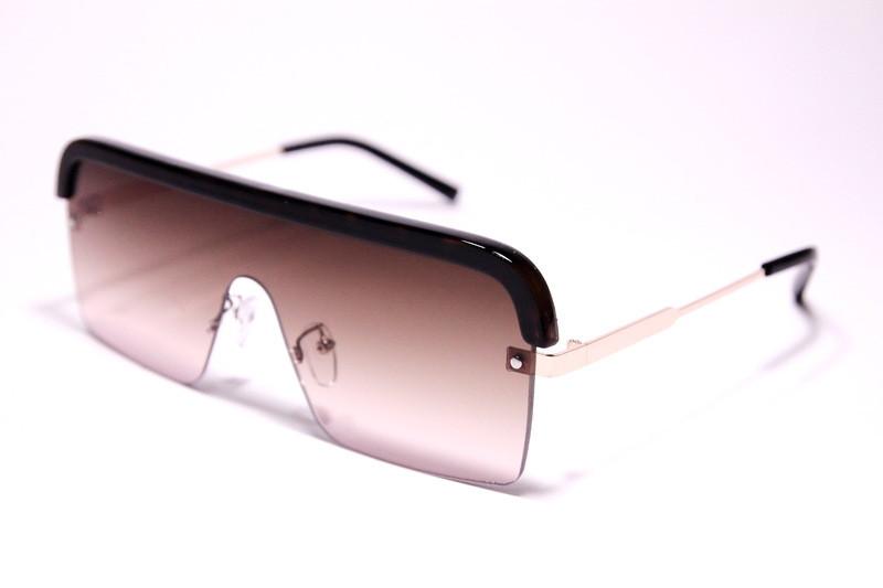 Жіночі сонцезахисні окуляри маска Діор 008 C2 репліка Коричневі з градієнтом