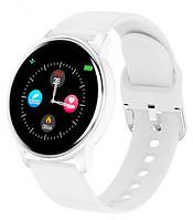 Смарт часы женские белые Smart Lige White Snow. Умные часы с тонометром и пульсометром