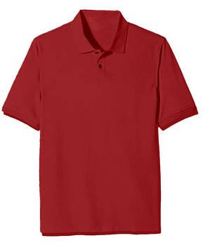 Футболка поло однотонна чоловіча, колір червоний