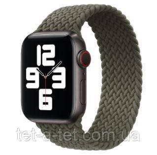 Ремешок (тканевый моно браслет) Braided Solo Loop для Apple Watch 38mm/40mm Inverness Green Size 6 (144 mm)