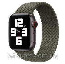 Ремінець (тканинний моно браслет) Braided Solo Loop для Apple Watch 38mm/40mm Inverness Green Size 6 (144 mm)