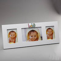 Рамка для детских фотографий фотоколлаж на 3 фото