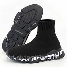 Мужские кроссовки в стиле Balenciaga Speed Trainer, черный, Вьетнам