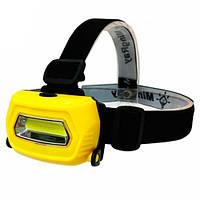Налобный фонарь, фонарик, фара COB LED 3Вт Sh-659, 103457