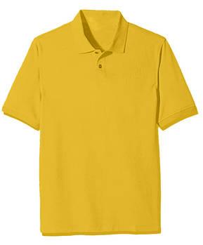 Футболка поло однотонная мужская, цвет желтый