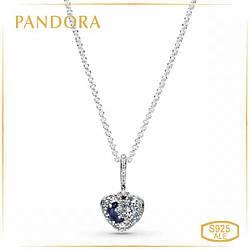 Пандора Колье Блестящая голубая луна и звезды Pandora 399232C01