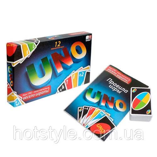 Настольная карточная игра UNO Уно 12 вариантов, эконом, 100837