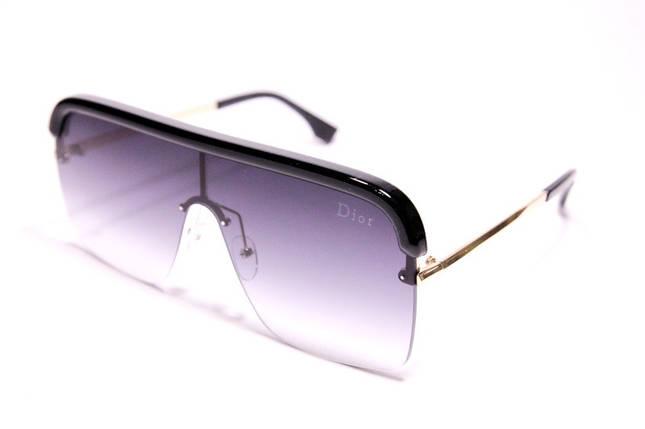 Жіночі сонцезахисні окуляри маска Діор 015 C2 репліка Чорні з градієнт, фото 2