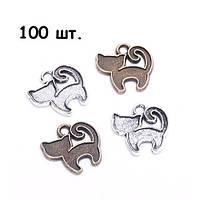 Набор из 100 металлических подвесок шармов шармиков, котята, 100698