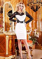 Платье эксклюзив с гипюровыми рукавами,скл№2