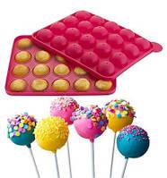 Силіконова форма для Кейк попс (CAKE POPS) 23х19см 20 осередків