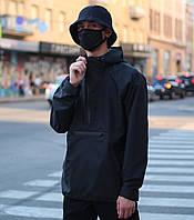 Анорак мужской черный весенний ветровка модель Шадоу