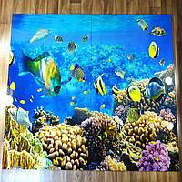 Панно из стекла на стену ванной Коралловый риф