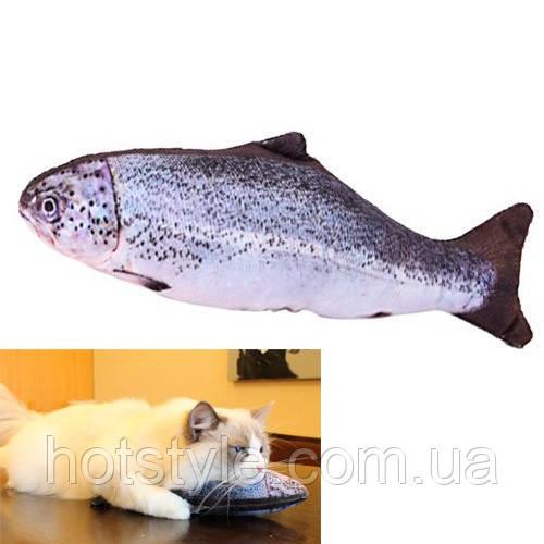 Мягкая игрушка рыба Форель 40см для кошек кота с кошачьей мятой, 100674