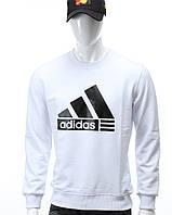 Свитшот мужской белый ADIDAS с лого WHT XL(Р) 20-412-001