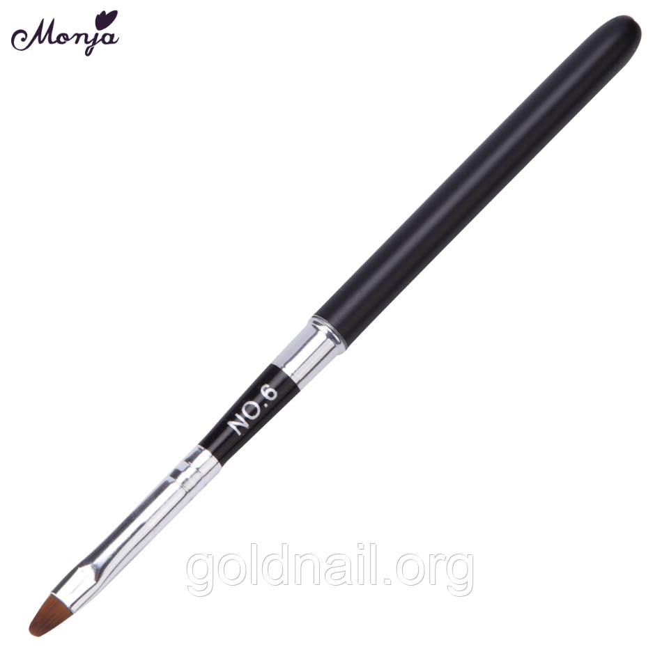 Кисть для геля №6 ручка колпачок