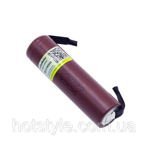 Акумулятор 18650 высокотоковый Li-ion 3.6 В 3000маг 20А Liitokala з клемами, 103516