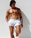 Пляжні шорти AQUX білого кольору з срібним поясом, фото 2