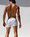 Пляжні шорти AQUX білого кольору з срібним поясом, фото 6