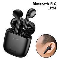 Наушники беспроводные, гарнитура с кейсом Baseus Encok W04 Bluetooth, Черные, 103232
