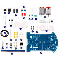 Робот BEAM Трек машинка ездящая по линии D2-5 Kit СОБЕРИ САМ DIY, 102909