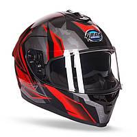 Шлем GEON 967-2 Scorpio Интеграл с очками Red/Black