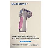 Безконтактний інфрачервоний цифровий термометр VONMIE GuoPhone - JLT-C05 Білий (tdx0001077), фото 6