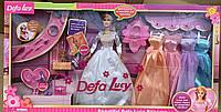Кукла Defa 6073 B с нарядными платьями и аксессуарами