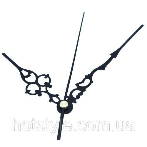 Стрілки годин, годинникового механізму, комплект із 3 стрілок, чорні